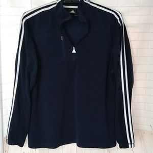 Adidas Half Zip Navy Fleece Pullover Sport Jacket
